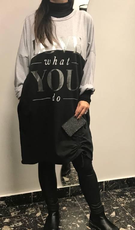 Sivo črna tunika